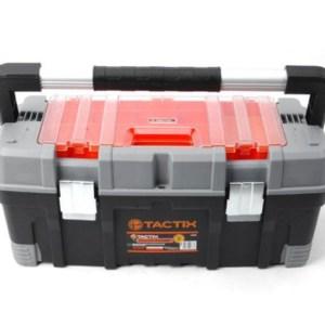 TACTIX - Εργαλειοθήκη Πλαστική με Αποσπώμενο Ράφι και Ταμπακιέρα (320304)