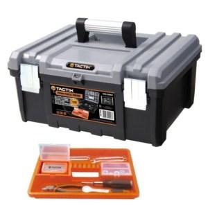Tactix - Εργαλειοθήκη Ηλεκτρικών Εργαλείων Πλαστική με Αποσπώμενο Ράφι (320332)