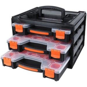 TACTIX- Set με 3 Πλαστικές Ταμπακιέρες με διάφανο καπάκι σε κουτί μεταφοράς (320040)