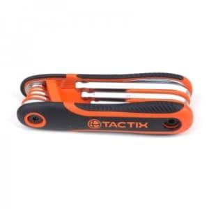 TACTIX - Άλλεν Κλειδί Μπίλιας Κλιπ CR-V, Σετ 8 Τεμ, Με Αντιολισθητική Λαβή 2-10 mm (206205)