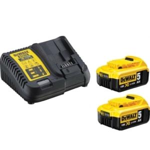 DEWALT DCB115P2 Φορτιστής 10.8V-18V LiIon Λιθίου Συρταρωτών 30 λεπτών μαζι με 2 μπαταρίες 18V 5.0Ah