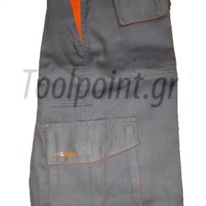 Galaxy GLX30 Παντελόνι Εργασίας Γκρι/Πορτοκαλί 100% Βαμβάκι